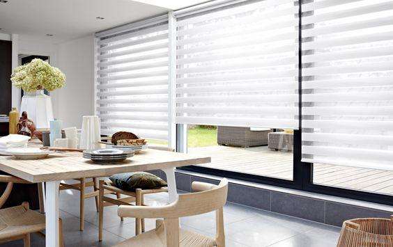 cortina double vision sala de jantar